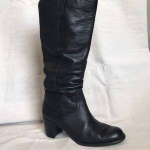 """Liz Claiborne Black Leather """"Musket"""" Boots"""